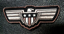 EAGLE FLAG SHIELD EMBROIDERED 3.5 INCH  ACU COMBAT TACTICAL HOOK LOOP PATCH