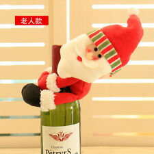 Christmas Santa Claus Wine Bottle Cover Table Party Xmas Ornaments Decoration