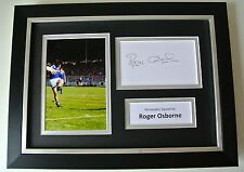 Roger Osborne SIGNED A4 FRAMED Photo Autograph Display Ipswich Town Football COA