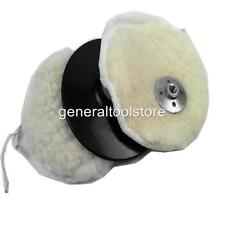 "LAMBSWOOL POLSHING BONNETS TO FIT  7"" - 9"" ANGLE GRINDER POLISHERS CARS BOATS"