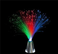 6 MULTI-COLOR FIBER OPTIC LAMPS WITH LIGHT SHOW, BRIGHT LEDS, BATTERIES INCLUDED
