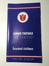 ISTANBUL AIRLINES TIMETABLE SUMMER 1997 TURKEY SEAT MAPS