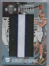 2016/17 Panini Court Kings LETTER I PATCH Georgios Papagiannis 1/1 #d 6/11