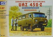 Ambulancia UAZ 452-z, Ho, 1/87, SDV, plástico Kit, * novedad *