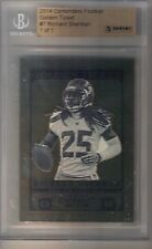 2014 Panini Contenders Richard Sherman 14kt. Gold Golden Ticket #1/1 Seahawks
