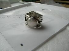 Silpada Mermaid White Coin Pearl Sterling Silver Woven Size 8 Ring R1542