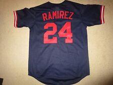Manny Ramirez #24 Cleveland Indians MLB Majestic Jersey M medium Rookie