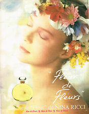 PUBLICITE ADVERTISING 034   1984   NINA RICCI  parfum FLEUR DE FLEUR