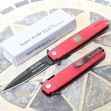 Tac Force Assisted Opening Fire Fighter Rescue Stiletto Folding Pocket Knife New