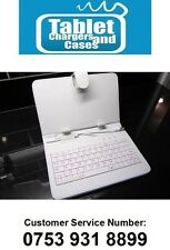 White USB Keyboard Case/Stand for GD Gemini GEM7030 GEM 7030 ANDROID Tablet PC