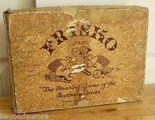 Vintage 1937 Frisko Embossing Co Wood Dice Gambling Game INCOMPLETE For Parts