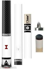 Poison Black Widow BW-6 Pool Cue - 13mm Venom² Shaft - Metallic White w/ Wrap