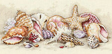 Cross Stitch Kit ~ Gold Collection Seashell Treasures Shells of the Ocean #65035