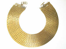 ANNE KLEIN COUTURE 8-strand geometric necklace, 24K electroplated SAKS $925  VTG
