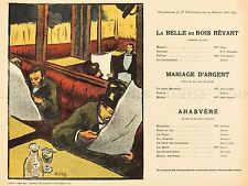 IBELS FRENCH SLEEP DREAM PROGRAMME OLD ART PAINTING POSTER PRINT BB5720A