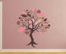 Patterned Tree Wall Decal Sticker Fabric Art Nursery Baby Vinyl Graphic P11