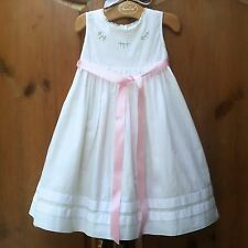 EUC STRASBURG Boutique White Classic Embroidered Beach Slip 3 3T Portrait Dress