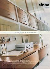 Publicité 2000  CINNA magasin de meubles aménagement sur-mesure