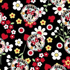 DISNEY MINNIE MOUSE FLORAL TOSS FABRIC MATERIAL, From Springs Creative Product