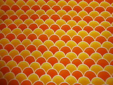 TIMELESS TREASURES Pure Cotton Orange/Yellow Clamshell 1 yard NEW