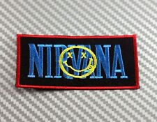 NIRVANA ROCK BAND MUSIC PUNK HEAVY IRON PATCH SEW EMBROIDERED LOGO EMBLEM