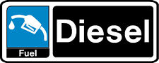 2 x DIESEL REMINDER STICKERS VEHICLE REMINDERS SERVICE DUE DATE MOT TAX
