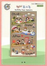 """Petit Four Seasons"" Counted cross stitch pattern leaflet. Big Chart.SODA SO-G37"