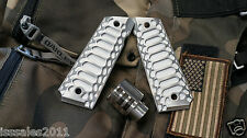 "1911 .45acp PUNISHER COMMANDER Muzzle Brake and ""Cobra"" Grips COMBO COMPENSATOR"