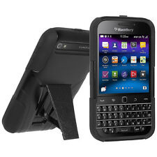 Amzer Soft Gel + Hard Shell Hybrid Kickstand Case BlackBerry CLASSIC Q20 - Black