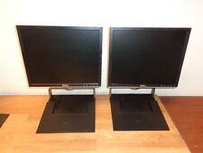 "Lot of 2 DELL 1708FPB 17"" Flat Panel TFT Monitor Black / Gray w/RM361 Stand WOW"