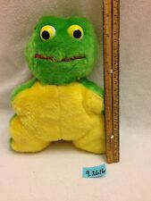 Dan Brechner Frog Green And Yellow Stuffed Animal Vintage Plush Toy