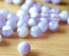 5 Pieces of Natural Lavender Amethyst Round Beads 8mm Gemstone Crystal DIY Rare