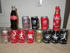 Coca Cola set of Rio Olympic Coke cans & bottles