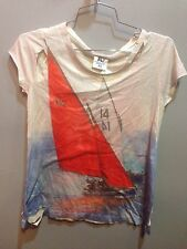 $73 NEW Rebel Yell Sailing Back And Front Graphic T Shirt Size S
