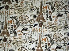 PARIS FRANCE EIFFEL TOWER POODLE CHAMPAGNE & MUCH MORE VALANCE