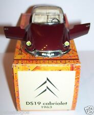 NOREV CITROEN DS 19 CABRIOLET 1963 BORDEAUX 1/43 IN BOX