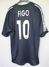 REAL MADRID 2004/2005 FIGO #10 THIRD FOOTBALL SHIRT JERSEY CAMISETA sz L (069)