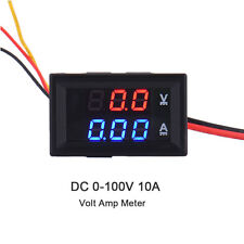 100V 10A Digital Voltmeter Ammmeter Amp Voltage Current Power Meter Blue Red LED