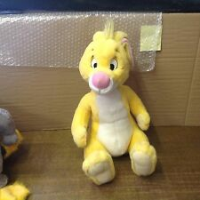 """WALT DISNEY PELUCHE 16"""" DI POLLICE GIALLO coniglio di Winnie the Pooh in buonissima condizione"""