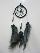 Small Nylon Black Coconut Bead 6cm Web Dream Catcher 32 cm Total Length
