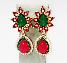 Charm Rhinestone Teardrop Flower Dangle Earrings Fashion Tears Pearls Ear Stud