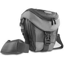 BAXXTAR Mantona Colt SLR Kameratasche schwarz-grau mit Staubschutz & Tragegurt