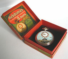 HEBDOMAS SWISS 8 JOURS 8 JEWEL ANCRE S16 OF POCKET WATCH & SALES BOX *WORKING*