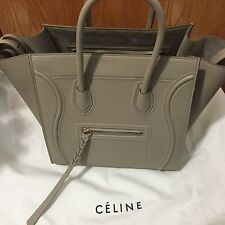 New Authentic Celine Medium Phantom Bag Tote In Light Greyish Color
