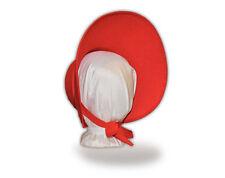 Austentation  DIY Blank Regency / Victorian Caroler Style Red Felt Bonnet