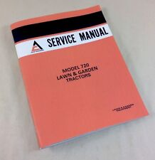 ALLIS CHALMERS MODEL 720 LAWN & GARDEN TRACTORS SERVICE REPAIR SHOP MANUAL MOWER