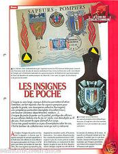 FICHE Insignes de Poche de la Fédération des Sapeurs Pompiers France FIREFIGHTER