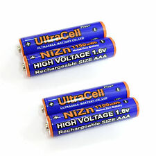 4 x 1150mWh AAA NiZn 1.6V Volt Rechargeable Battery 3A LR03 HR03 Ultracell Blue