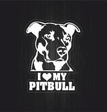Sticker adesivo adesivi tuning auto moto bomb jdm i love my pitbull cane r4