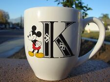 Disney Mickey Mouse ''K'' Ceramic Coffee Mug Cup  Artwork collectible 2015